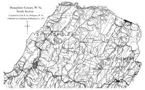 Map Of West Virginia Counties Hampshire County Wv History Homepage
