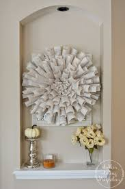 rolled book page wreath a mrs among magnolias