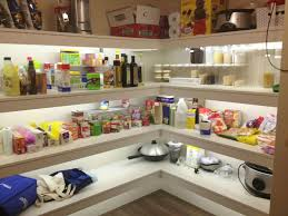 Kitchen Pantry Shelving Ideas by Led Strip Lighting In The Pantry Home Design Ideas Interiors