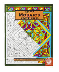 amazon com mindware u2013 celtic mosaic coloring book u2013 23 unique