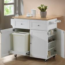 Marble Top Kitchen Island Cart by Kitchen Natural Wood Top White Kitchen Island Cart In White