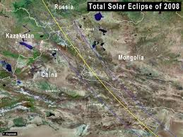 China Google Maps by Nasa Total Solar Eclipse Of 2008 August 01