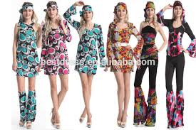 Flower Power Halloween Costume Instyles 60s 70s Fancy Dress Costume Flower Power Hippy Hippie