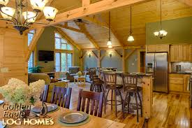 Open Floor Plans Log Homes Golden Eagle Log And Timber Homes Exposed Beam Timber Frame