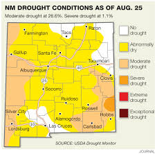 Unm Map Drought Creeping Back Into New Mexico Albuquerque Journal