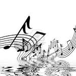 Musical Notes On A Solid White Background With Reflection Royalty ...