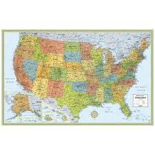 Printable Map Of The United States Rand Mcnally M Series Wall Map Laminated United States 50 X 32 By