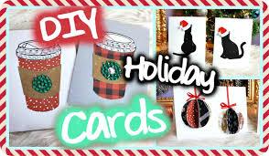 diy christmas holiday cards easy u0026 cute youtube