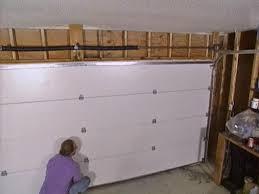 installing a garage door how tos diy