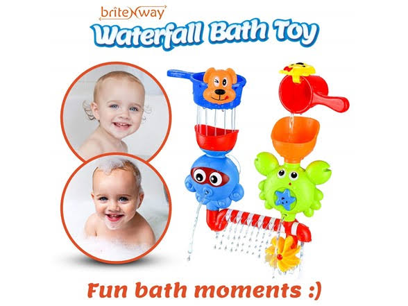 Baby Bath Waterfall Toys With Two Stackable Cups