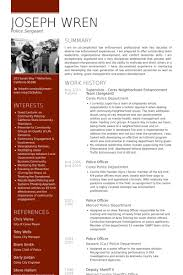 Deputy Sheriff Job Description Resume by Sergeant Resume Samples Visualcv Resume Samples Database