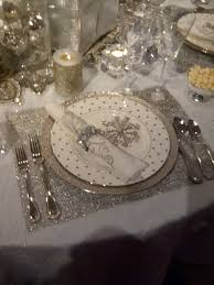 Black Blue And Silver Table Settings Snowflake Christmas Or New Years Eve Theme Receptions