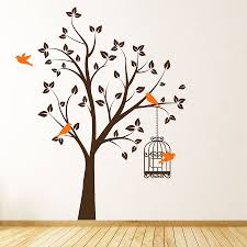 Bedroom Wall Decals Trees Bedroom Design Original Tree Bird Cage Wall Sticker Tree Bird