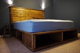 How To Build A Full Size Platform Bed With Drawers by Charming King Size Platform Bed With Storage Plans And Best 25