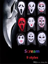 ghost half mask halloween mask party scary mask ghost mask scream mask costume