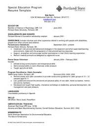 How To Write Resume For Teacher Assistant Chris Ackerman Special     special needs teacher