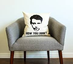 friends tv show joey tribbiani how you doin u0027 pillow home decor
