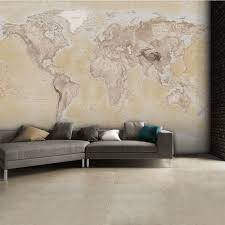 mural wallpaper murals photo murals i want wallpaper 1 wall neutral world map atlas wallpaper mural wall art 315cm x 232cm