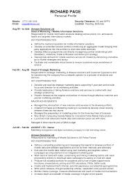 How To Write A Profile  resume examples how to write a     happytom co