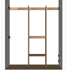 How To Make Closet Shelves by Diy Closet Organizer Plans For 5 U0027 To 8 U0027 Closet
