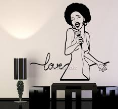 compare prices on song wall decals online shopping buy low price african woman singer vinyl wall stickers love song black lady wall decal decor living room wallpaper