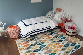 Teen Rugs Floors U0026 Rugs Blue With Meadllion Ikat Rug For Modern Living Room