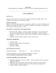 Car Sales Consultant Job Description Resume by Sample Resume General Manager Car Dealership Templates