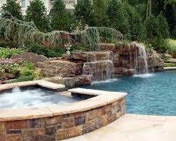 Backyard Swimming Pools Waterfalls  Natural Landscaping NJ - Backyard river design