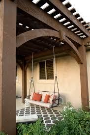 Timber Frame Pergola by Free Standing Diy Timber Frame Pergola Kit Installed Over Backyard