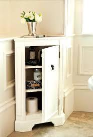 bathroom exquisite corner bathroom cabinet wood linen door floor