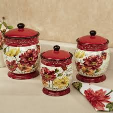 kitchen circa kitchen canisters white set of three with white