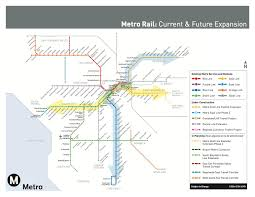 Los Angeles Light Rail Map by Ground Is Broken For Regional Connector Project To Link Blue Expo