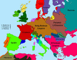 Map Of 1914 Europe by Political Map Of Europe 1680 Google Search European Explorers