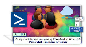 manage distribution groups by using powershell office 365
