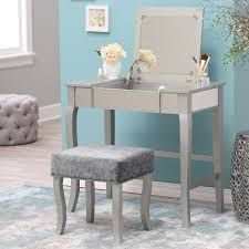 Linon Home Decor Vanity Set With Butterfly Bench Black Linon Harper Silver Mirrored Vanity Set Hayneedle