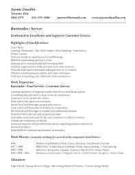 Combination Resume Format Bartending Description For Resume Bartender Resume Description Job