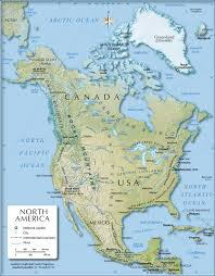 Map Of Northeast United States by Shaded Relief Map Of North America 1200 Px Nations Online Project