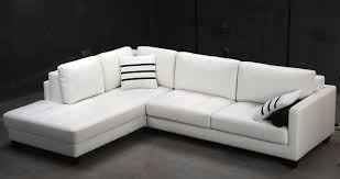 Leather Sofa Chaise by Modern Faux White Leather Sectional Sofa With Chaise Lounge Of