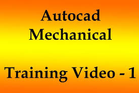 autocad mechanical training video youtube