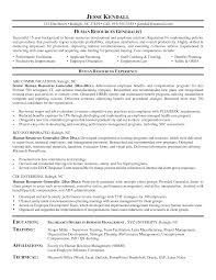 Summary Sample Resume by Hr Generalist Sample Resume Gallery Creawizard Com