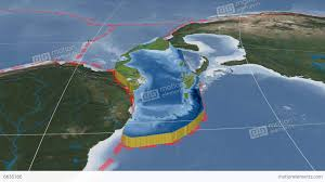 Tectonic Plate Map Caribbean Tectonic Plate Blue Marble Stock Animation 6635166