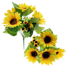 Flowers Home Decoration Amazon Com Bilipala Artificial Sunflower Flowers Bouquet For Home