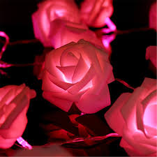 amazon com kingso 20 led battery operated rose flower string