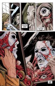 halloween michael myers in background are horror franchise comics worth taking a stab at bloody