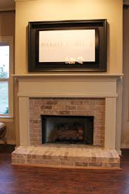 half brick fireplace surround with elevated hearth harris doyle