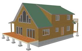 colorado cabin plan h235 1260 sq ft 1 bedroom 1 bath main 600 sq