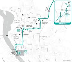 Greyhound Routes Map by Soltrans Route 85 U2013 Fairfield Express