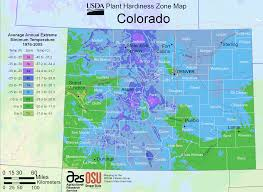 Colorado State University Map by Colorado Plant Hardiness Zone Map U2022 Mapsof Net