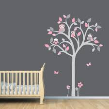 Tree Decal For Nursery Wall by Owl Tree Decal Owl Tree Wall Sticker Owl Nursery Art Owl