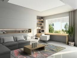 office modern minimalist home office design with wooden desk